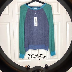 Wildfox Color Block Sweatshirt SzM